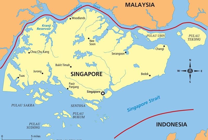 Singapur Na Karte Mira Stolica Sosedi Karta Na Russkom