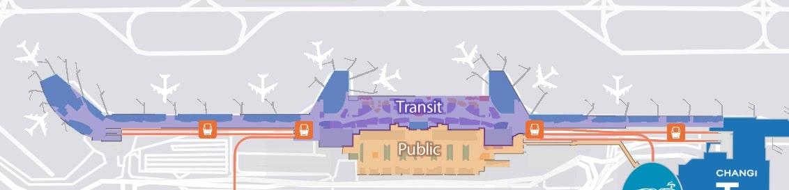 План терминала в Сингапуре