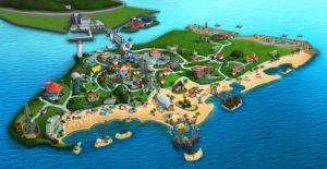 Карта пляжей Сингапура
