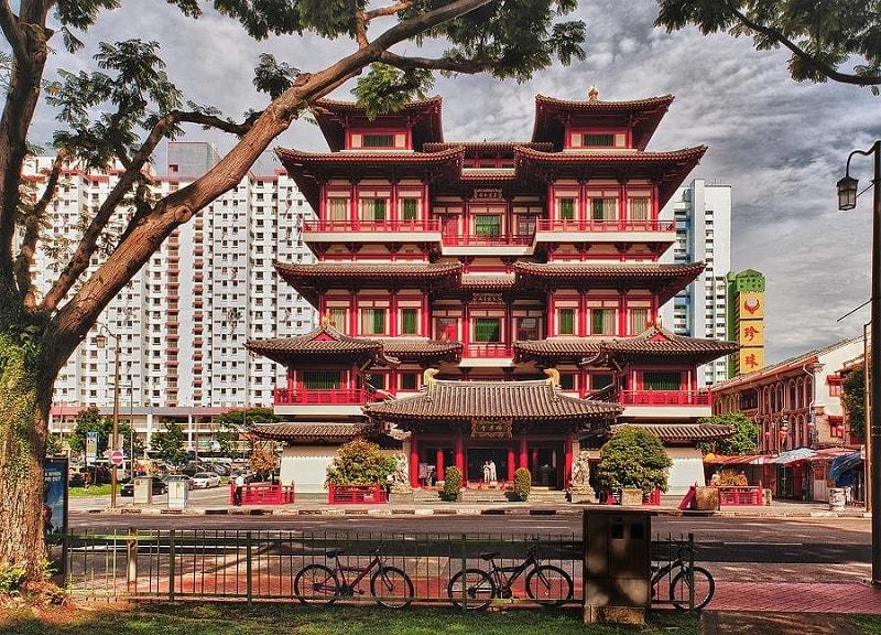 район Чайнатаун в Сингапуре