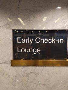 Зона раннего чекина в Чанги