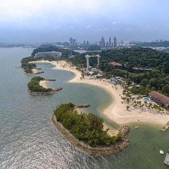 пляж острова сентоза