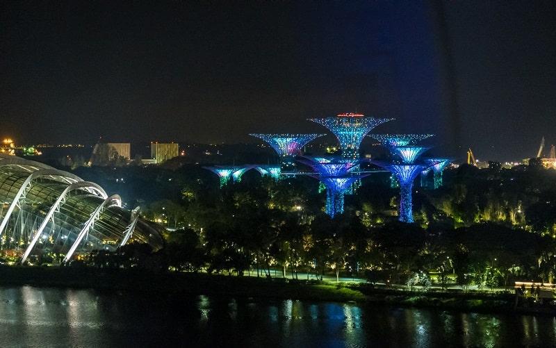Вид с колеса в сингапуре