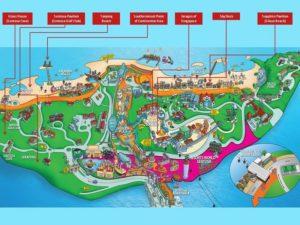 Карта острова сентоза