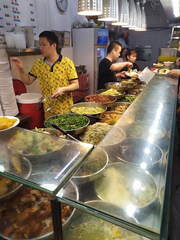Уличная еда сингапура