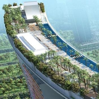 отели сингапура с бассейном на крыше