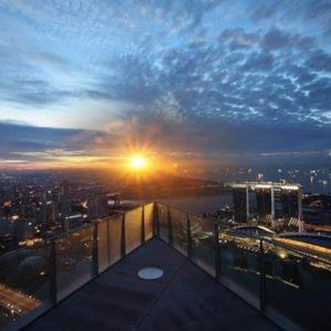 бар на крыше сингапура